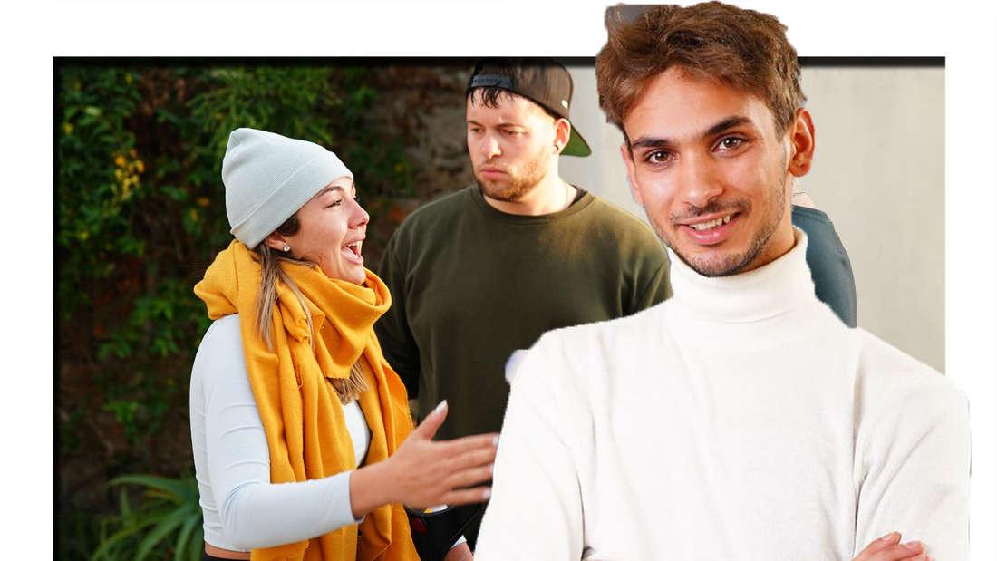 Steve hat die Arme verschränkt und trägt ein weißes Langarmshirt, im Hintergrund ist Katharina zu sehen