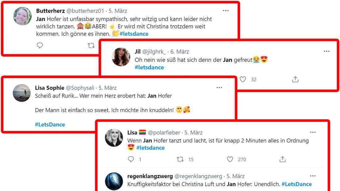 Verschiedene Screenshots von Twitter-Kommentaren