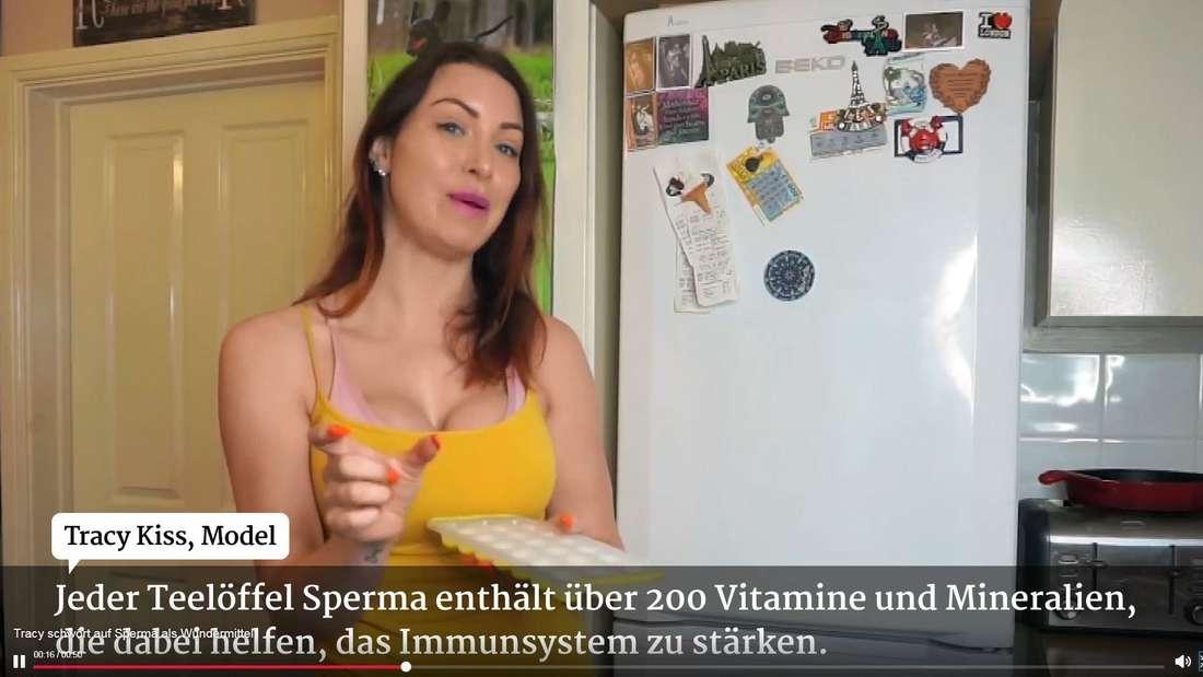 Die 33-jährige Britin Tracy Kiss schwört auf die Inhaltsstoffe von Sperma.