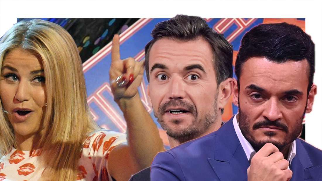 Giovanni Zarrella, Beatrice Egli und Florian Silbereisen vor dem Logo der TV-Show (Fotomontage)
