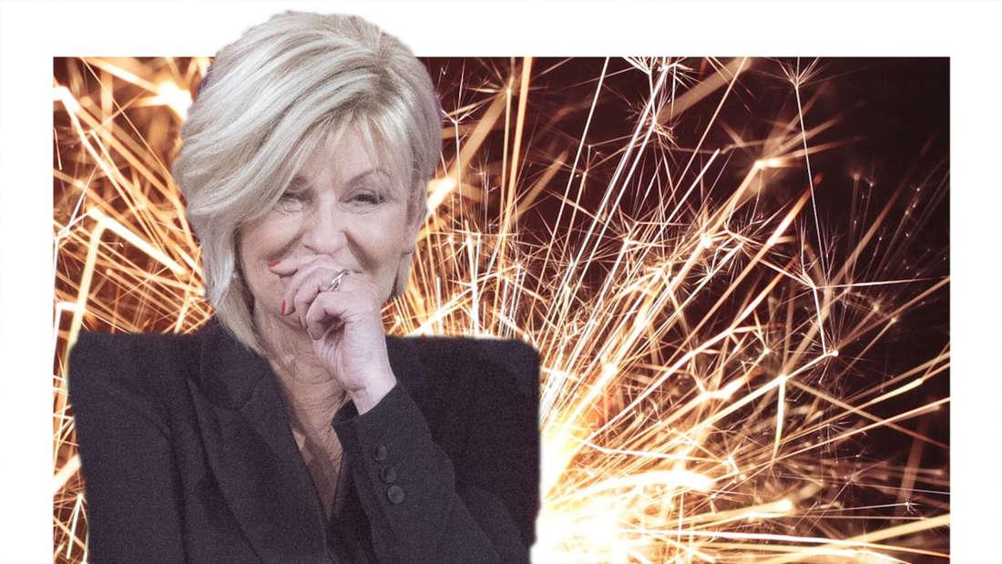 Carmen Nebel verkneift sich ein Lachen (Fotomontage)