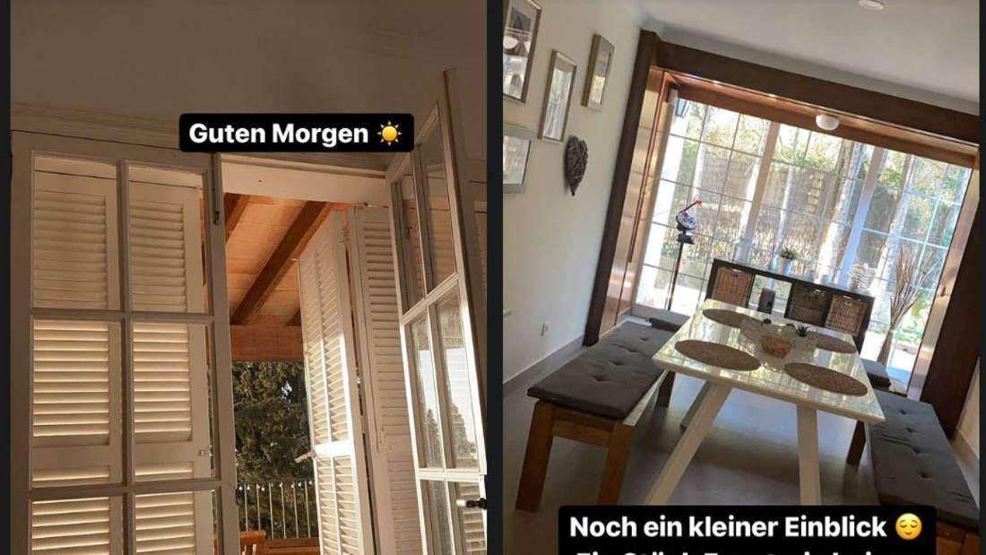 Danni Büchner zeigt bei Instagram ihr neues Zuhause auf Mallorca.