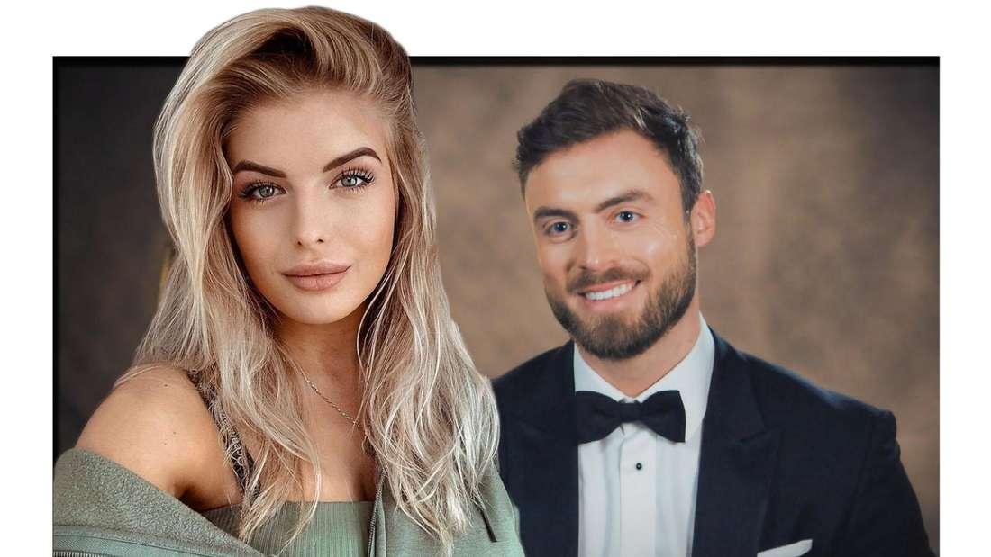 Fotomontage: Bauer sucht Frau Kandidatin Antonia Hemmer und Bachelor Niko Griesert