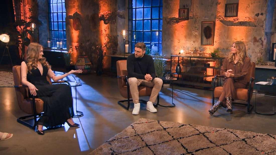 Mimi, Niko und Moderatorin Frauke Ludowig
