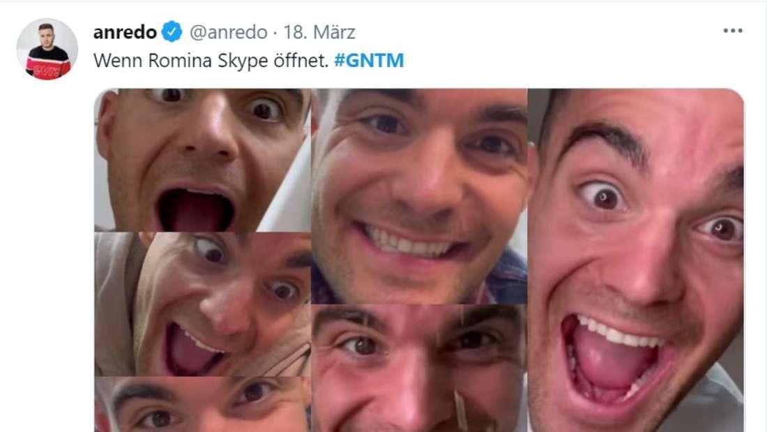 Stefano Zarrella macht verschieddene witzige Gesichtsausdrücke