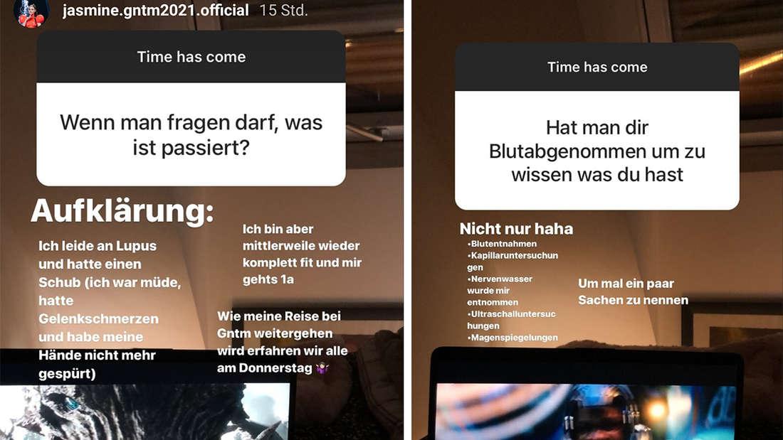 Zwei Instagram-Screenshots nebeneinander