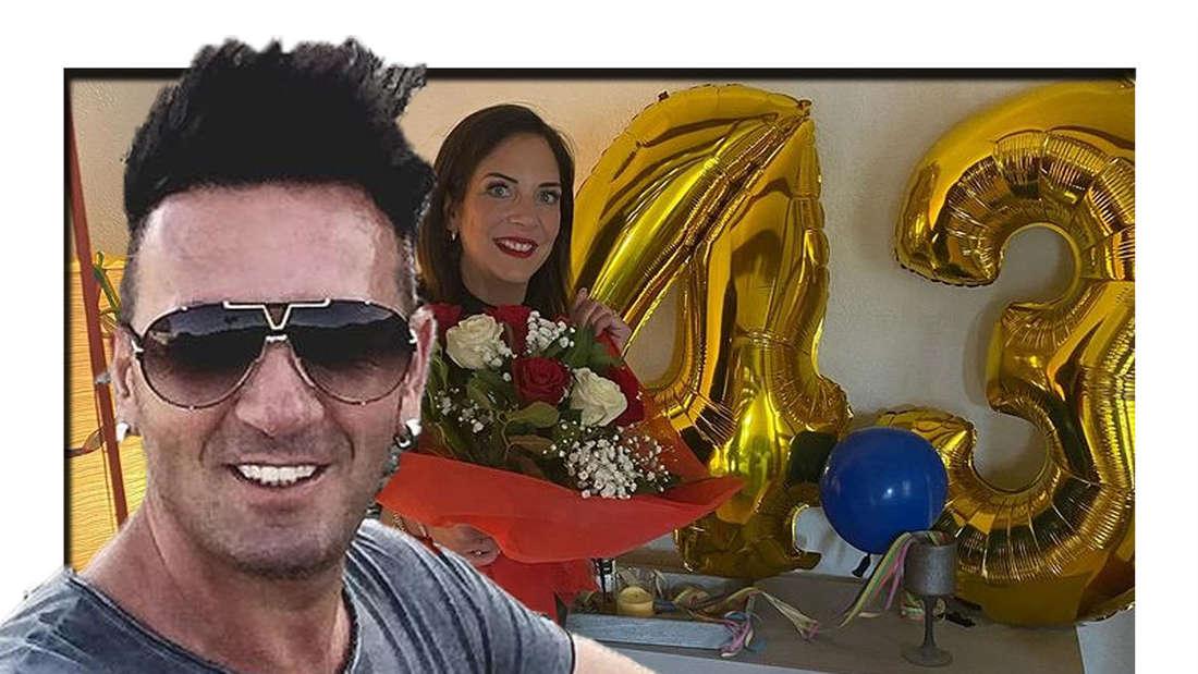 Ennesto Monte schaut in die Kamera - im Hintergrund ist Danni Büchner mit einem Luftballon zu sehen.