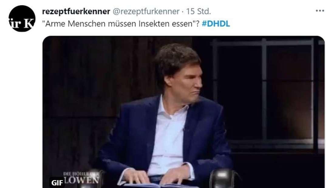 """Carsten Maschmeyer schaut sichtlich verwirrt zu seinen Kollegen bei """"Die Höhle der Löwen"""""""