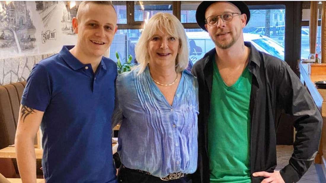 Kandidaten Ben und Mike sowie ihre Mutter Mireile