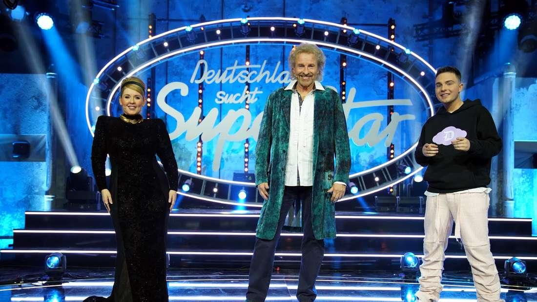 Die Jury vom DSDS-Halbfinale: Maite Kelly, Thomas Gottschalk und Mike Singer