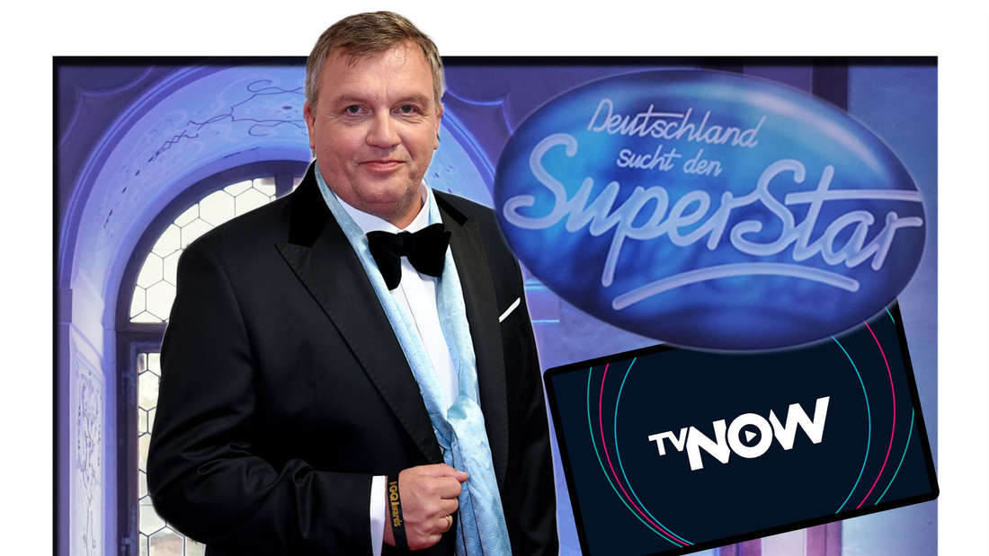 Fotomontage: Hape Kerkeling mit DSDS Logo und TVNOW Logo