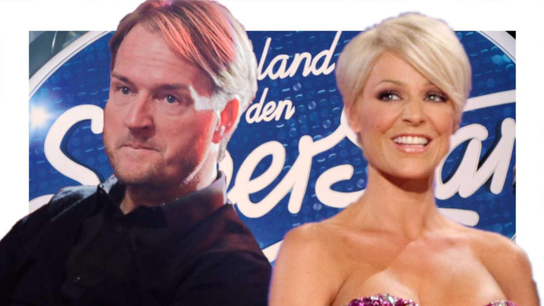 Michelle und Markus Krampe vor dem DSDS-Logo (Fotomontage)