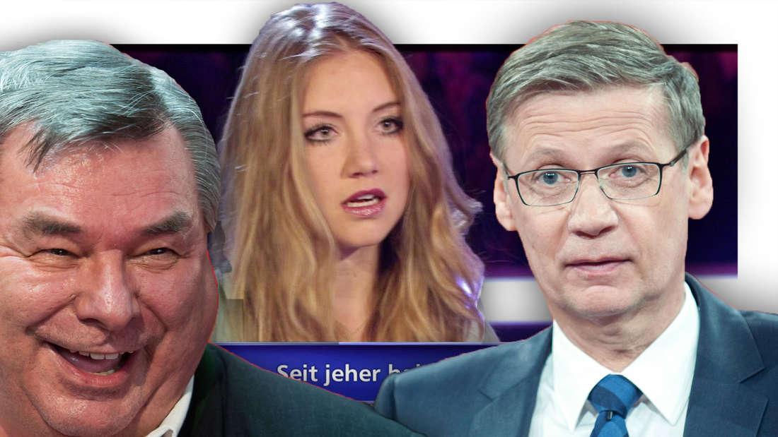 Waldemar Hartmann, Tanja F, Günther Jauch (Fotomontage)