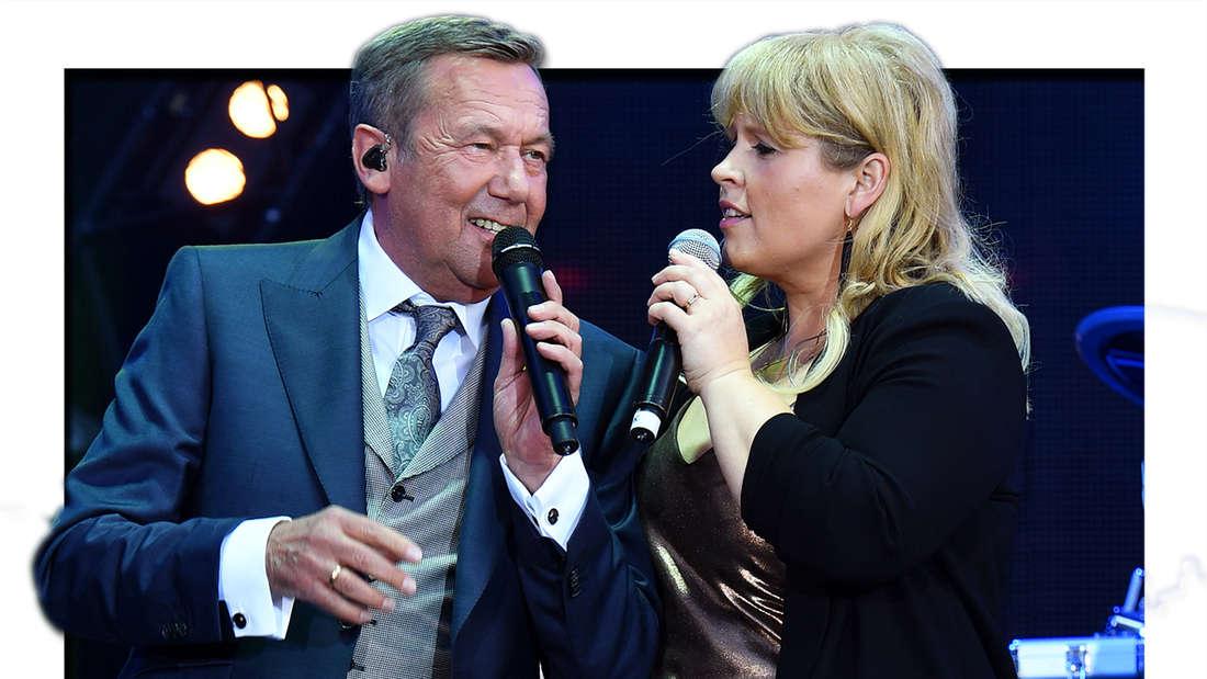 """Roland Kaiser und Maite Kelly am 28.07.2016 in Dresden beim Open Air Konzert """"Kaisermania 2016"""" (Fotomontage)"""