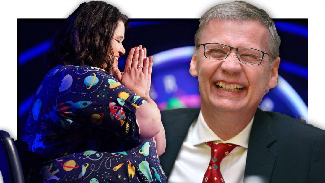 Anja Weich, Günther Jauch grinst (Fotomontage)
