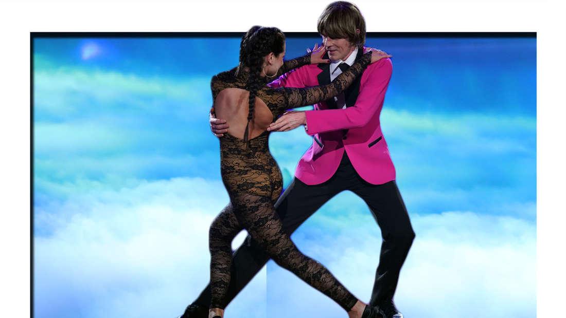 Fotomontage: Malika Dzumaev und Mickie Krause tanzen Tango bei Let's Dance