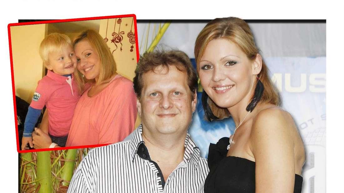 Fotomontage: Jenny und Jens zusammen, links ein Bild von Jenny mit ihrem Sohn