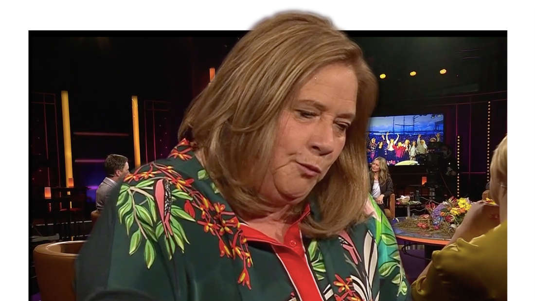 "Kathy Kelly am 26.03 zu Gast in der MDR-Talkshow ""Riverboat"" (Fotomontage)"