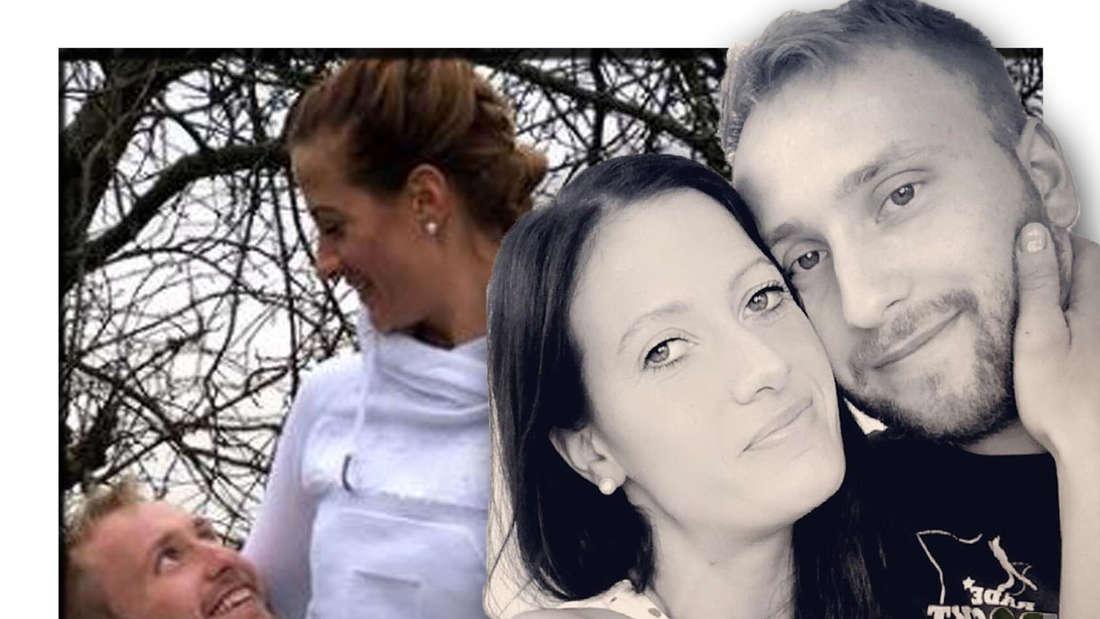 Fotomontage: Nils und Denise vorne Arm in Arm, im Hintergrund noch einmal
