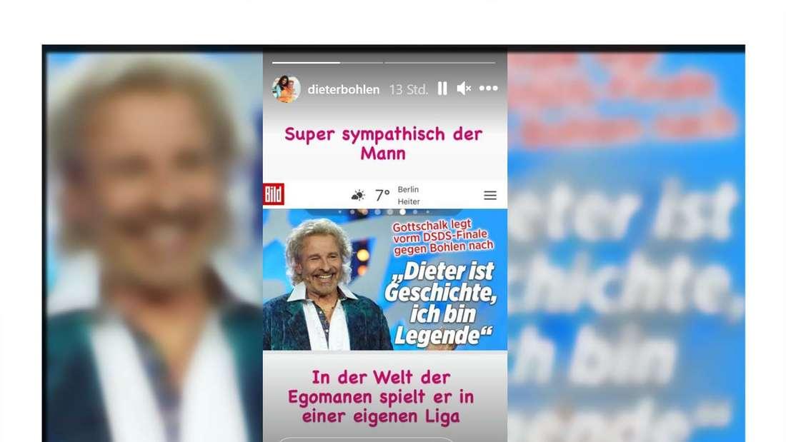 Screenshot von Dieter Bohlens Instagramaccount
