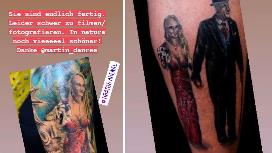 Die beiden Tattoos von Caro und Andreas Robens