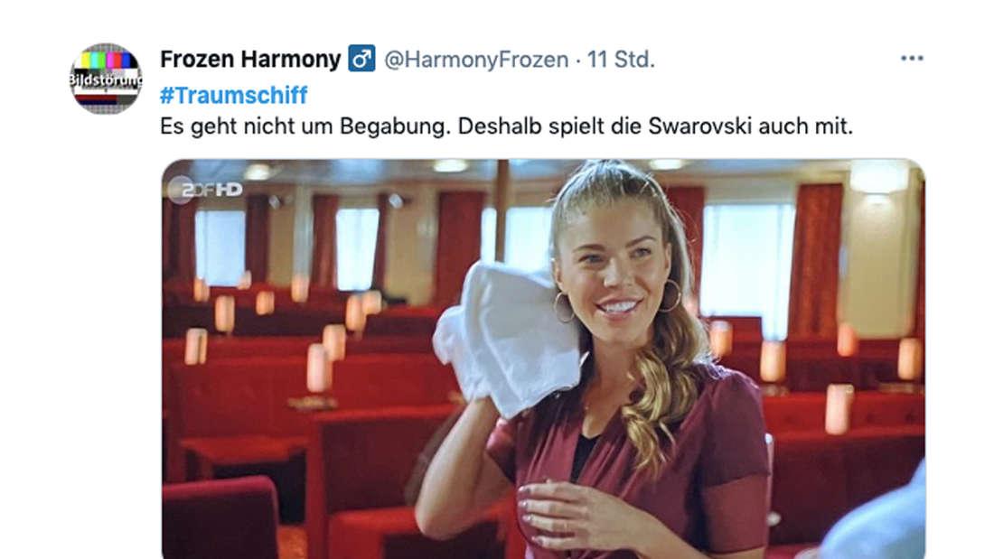 Twitter-Kommentar zur Traumschiff-Folge am Ostersonntag und Victoria Swarovskis Schauspiel-Debüt