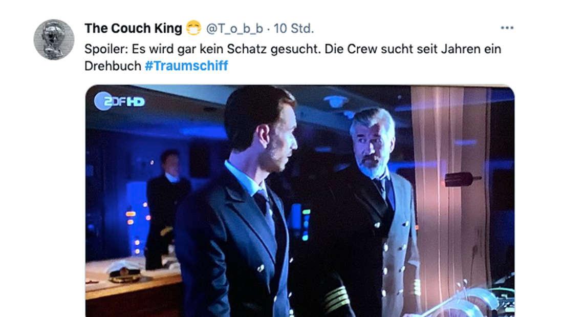 Twitter-Kommentar zur Traumschiff-Folge am Ostersonntag und dem Drehbuch