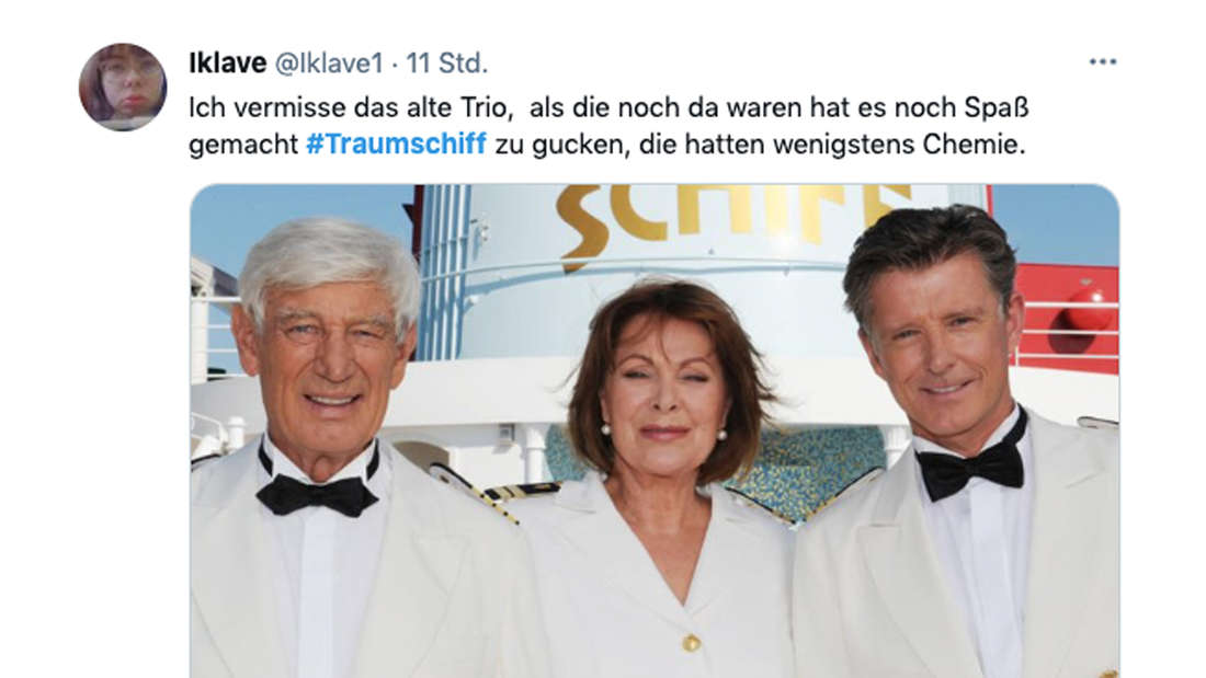 Twitter-Kommentar zur Traumschiff-Folge am Ostersonntag und der Besetzung