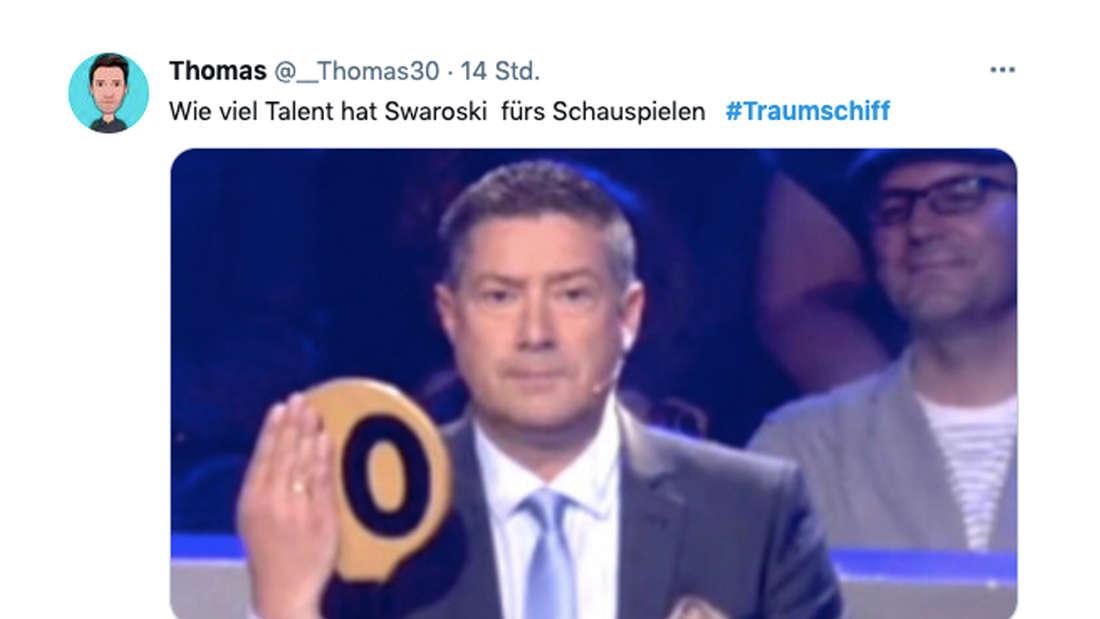 Twitter-Reaktionen auf Victoria Swarovskis Schauspiel-Debüt beim ZDF-Traumschiff