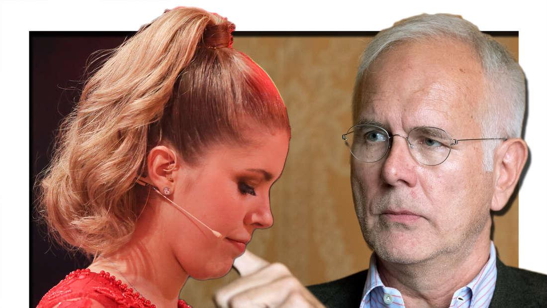 Harald Schmidt lästert über das TV-Debüt von Victoria Swarovski beim ZDF-Traumschiff (Fotomontage).