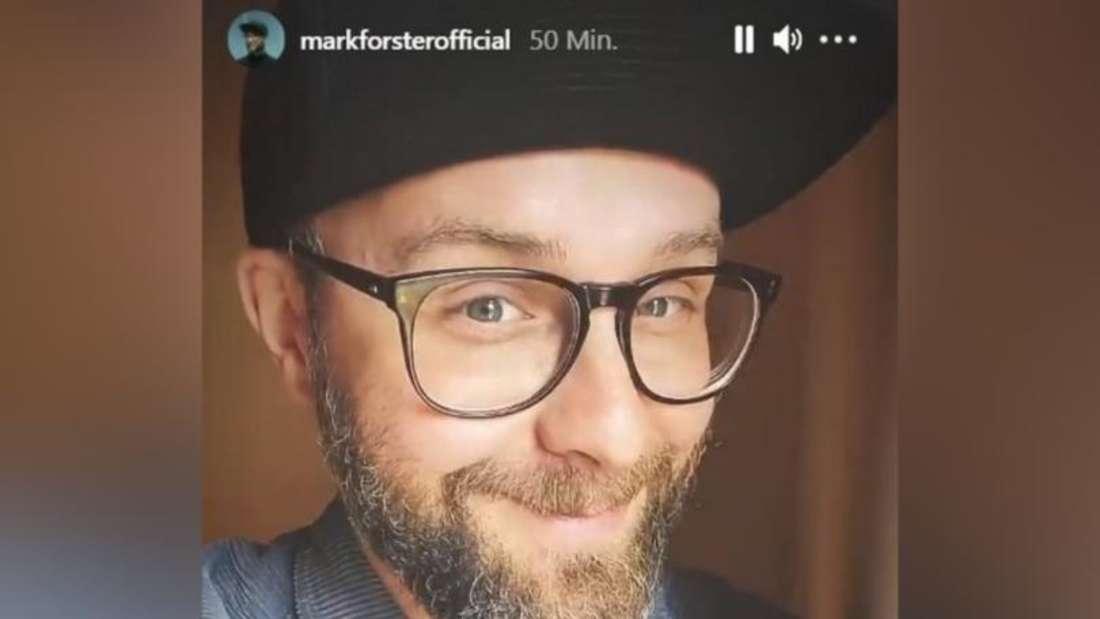 Instagram-Story von Mark Forster, in der sein ergrauter Bart zu sehen ist