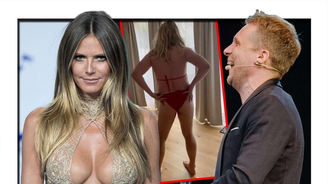 Oliver Pocher parodiert in einem neuen Video das Model Heidi Klum. (Fotomontage)