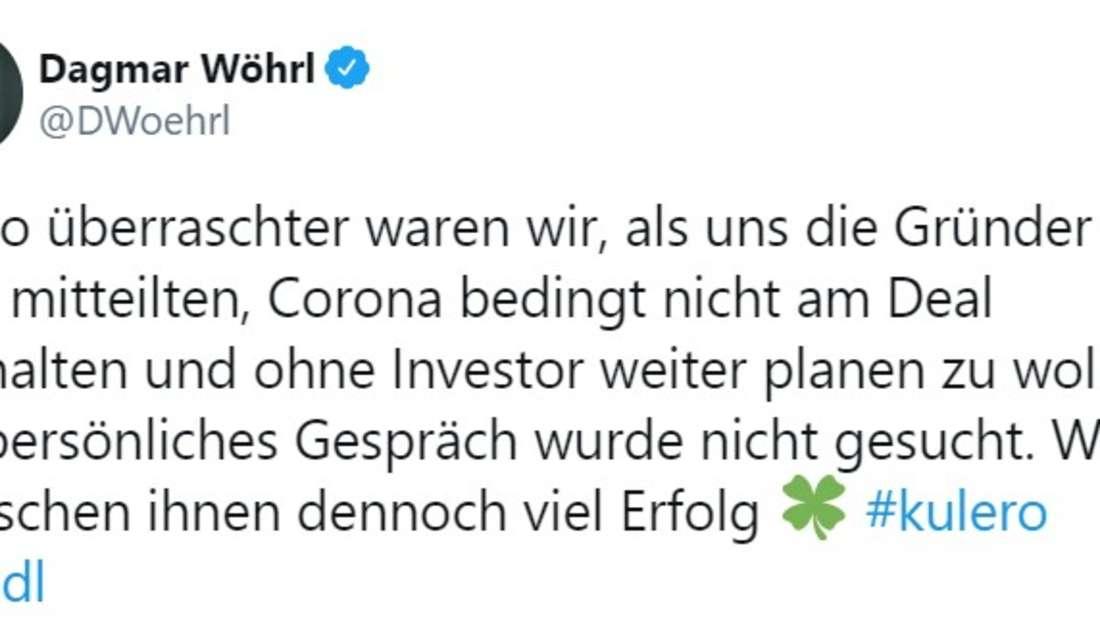 """Dagmar Wöhrl wünscht """"Kulero""""-Gründern alles Gute nach geplatzem Deal"""