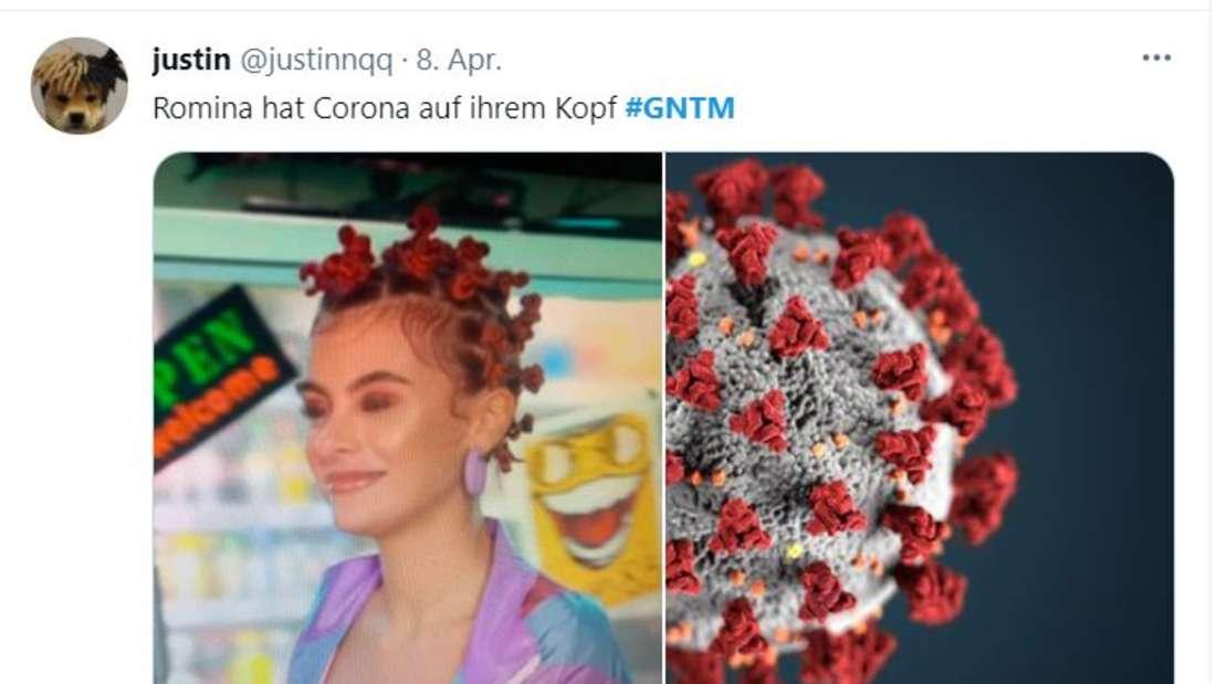 Romina lächelt, der Coronavirus