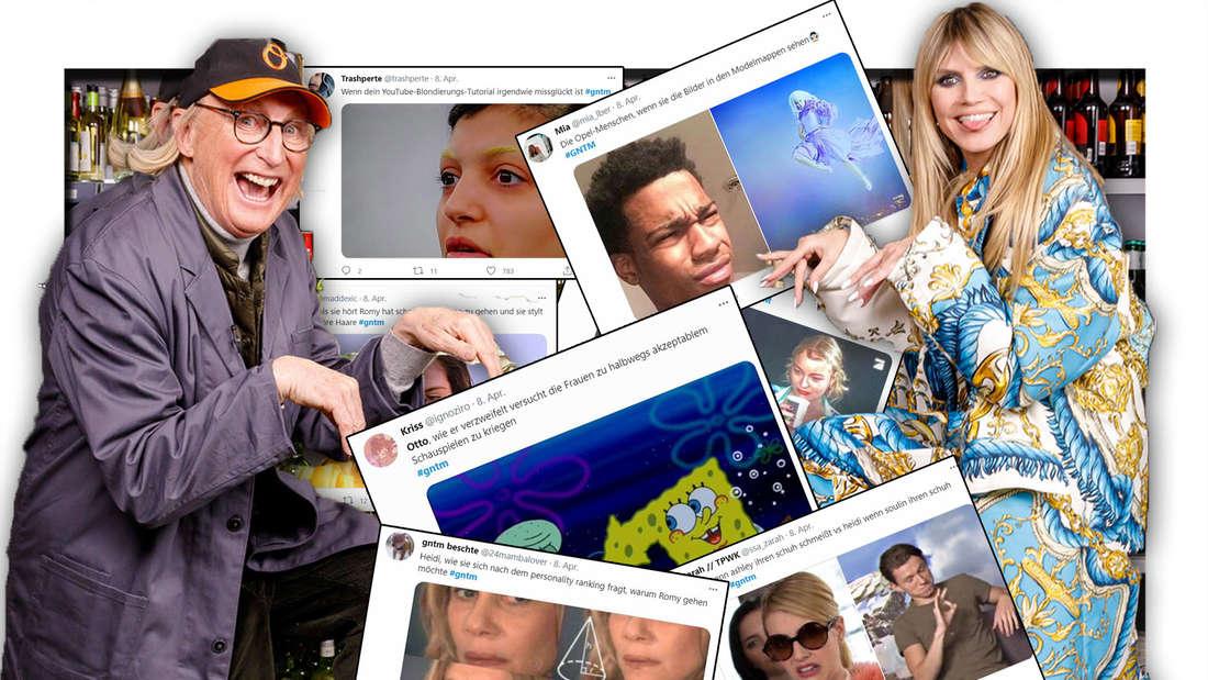 Otto Waalkes, Heidi Klum, Twitter Beiträge (Fotomontage)