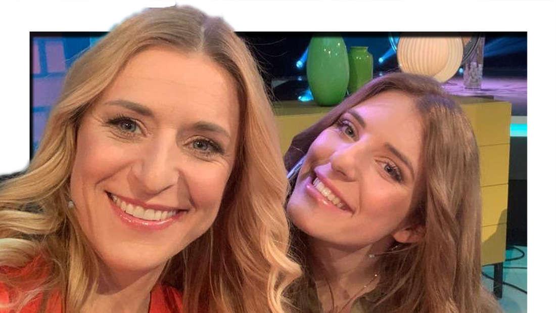 Johanna Mross wünscht ihrer Mutter Stefanie Hertel einen schönen Muttertag (Fotomontage