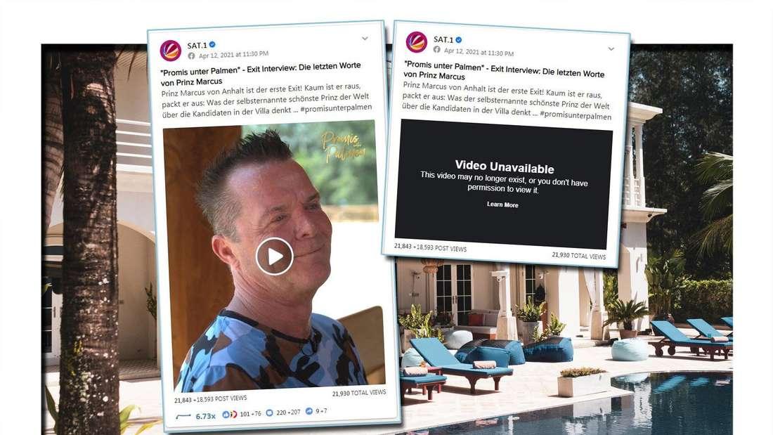Promis unter Palmen: Sat.1 löscht brisantes Exit-Video von Prinz Marcus - doch es ist zu spät.
