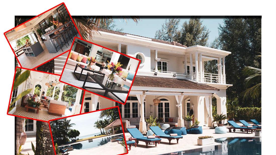 """Fotomontage: """"Promis unter Palmen""""-Villa mit weiteren Einblicken aus der Villa"""