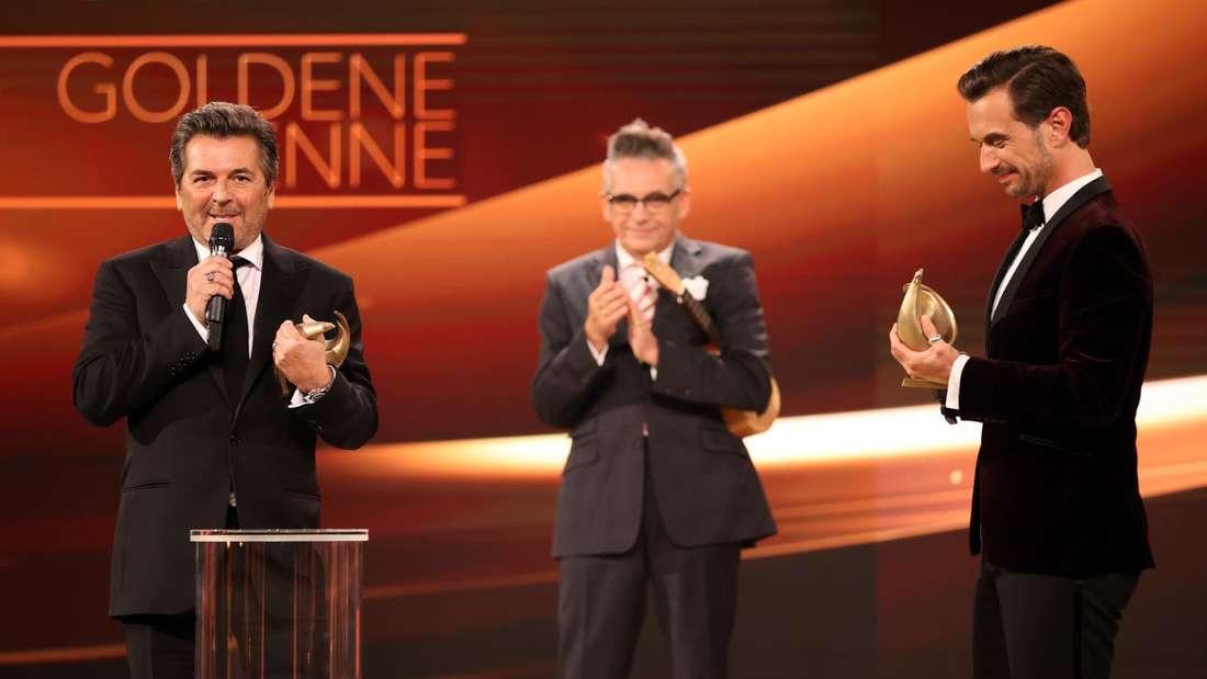 """Florian Silbereisen und Thomas Anders bei der Verleihung """"Goldene Henne"""""""