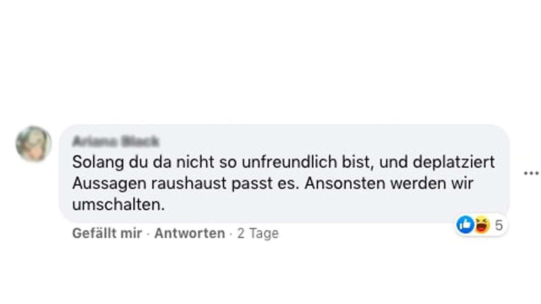 "Facebook-Kommentar unter Maite Kellys Post zu ""I can see your voice"""