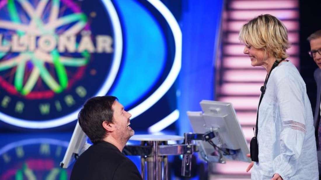 Kandidat Thomas Berg machte seiner Lebensgefährtin Julia Kadic in der RTL-Quizshow «Wer wird Millionär?» - einen Heiratsantrag.