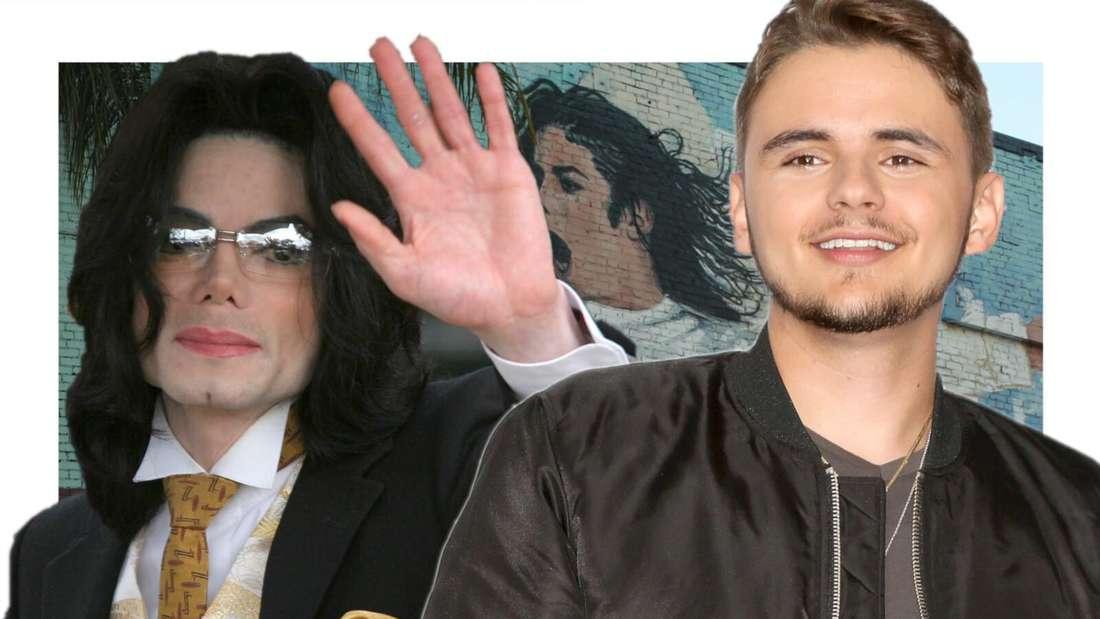 Michael Jackson winkt seinem Sohn zu (Fotomontage)