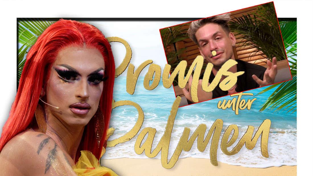 Katy Bähm, Promis unter Palmen, Katy Bähm weint (Fotomontage)