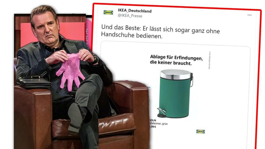 Fotomontage: Links Ralf Dümmel, rechts ein Screenshot des Twitter-Posts