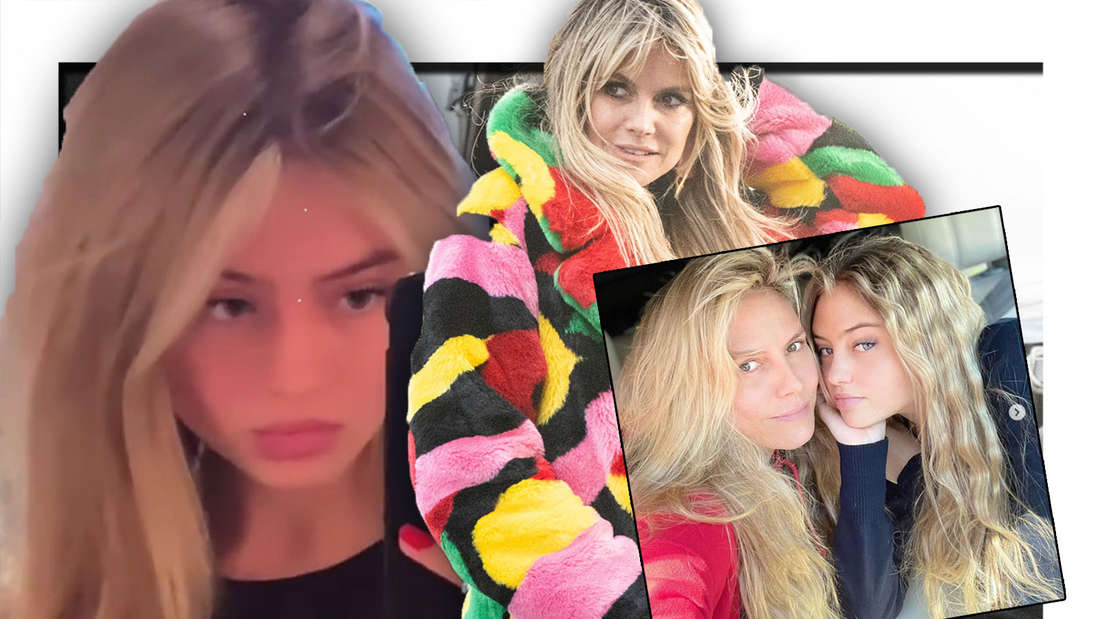 Leni Klum, Heidi Klum, Mutter-Tochter-Bild (Fotomontage)