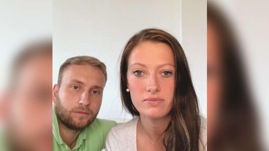 Denise Mundig und ihr Partner Nils Dwortzak in einem Instagram Live-Video.