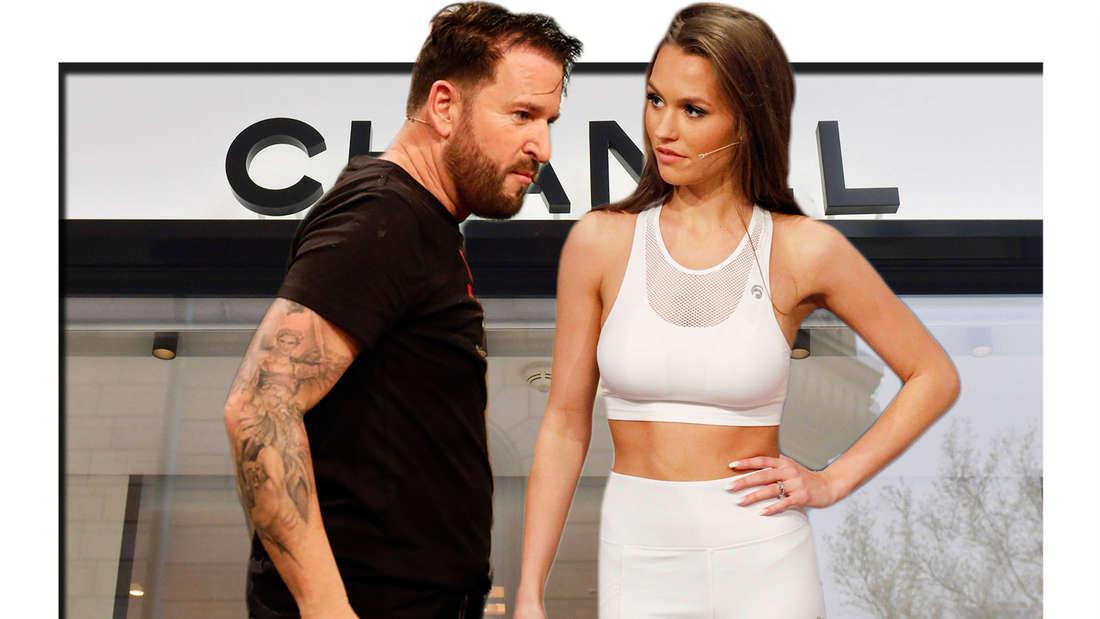 Fotomontage: Michael Wendler und Laura Müller vor Chanel-Store