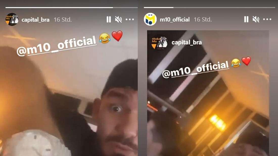 Die Instagram-Stories des Rappers Capital Bra und des Fußballspielers Mesut Özil