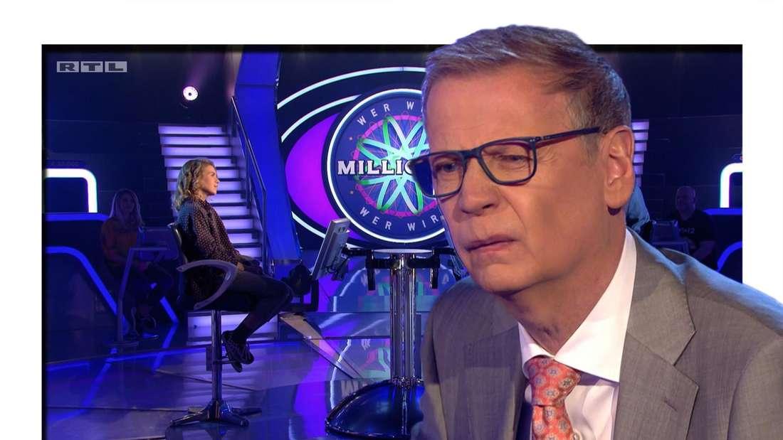 """Günther Jauch macht eine """"Wer wird Millionärin""""-Kandidatin zur Lachnummer. (Fotomontage)"""