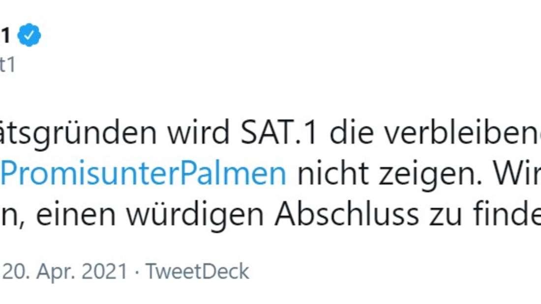 Screenshot Sat.1 Twitter Beitrag